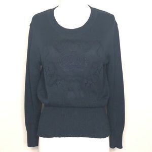 VINTAGE 80s Mondi Sweater With Crown In Navy